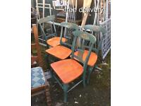4 stunning dinning chairs solid wood
