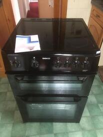 Beko BDVC663K Black 60cm electric Twin Cavity Ceramic Cooker Oven -RRP £357. Can deliver.