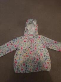 Girls peppa pig raincoat