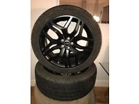"""Range Rover / Landrover / Evoque / Disco Sport / Black Pack Alloy Wheels 20"""" and tyres"""