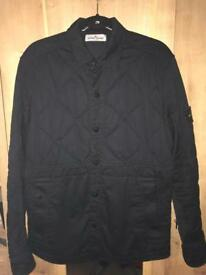 Stone island black quilted jacket