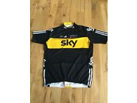 Team Sky Cycling Jersey by Adidas, UK Size 2XL