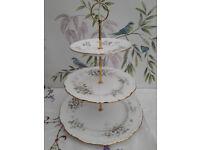 "Royal Albert ""Haworth"" XL 3-tier cake stand"