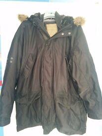 Next large black men's parka coat