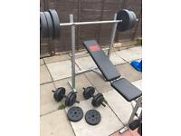 Pro Power Bench with 68kg Weights and Bars