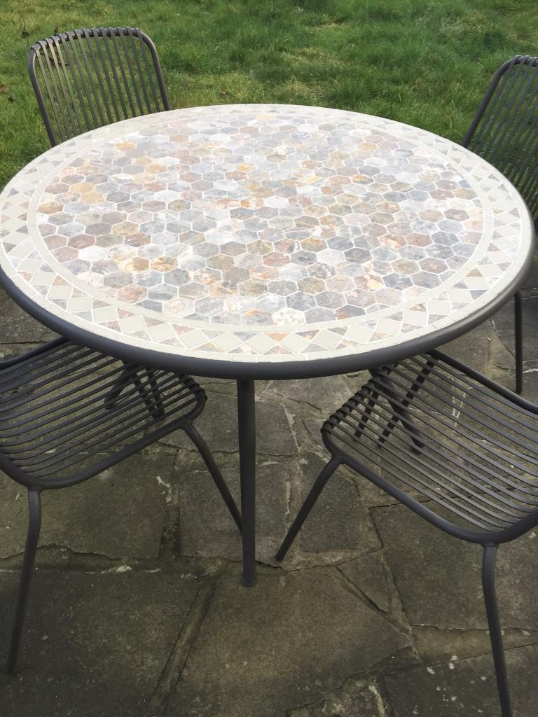 Mosaic Garden Table And 6 Chairs In Bromley London