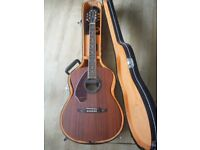 Fender Tim Armstrong Deluxe Left handed electric acoustic guitar with case