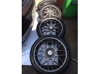 "GOLF GTI 25TH ANNIVERSARY ALLOYS 18"" BBS RC336 RARE!"