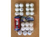 18 Titleist Golf balls & 6 Golf King Practice Balls