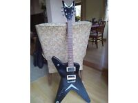 Dean electric guitar; sturdy bag and Boss effects pedal