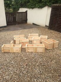 hand made wooden planters made myself various sizes £12 each £20 for two