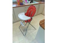 Folding High chair with removable legs