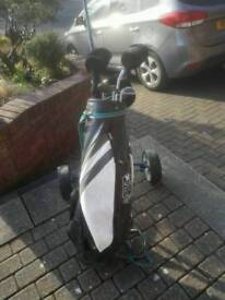 Golf set & Trolley (Left handed 3/4 set) in great condition.