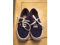 Ladies purple Vans shoes size 5