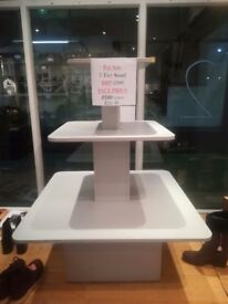 3 tier retail shop display stand