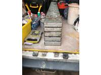 Galvanised steel scaffolding planks