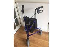 Tri-fold lightweight walker