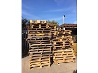 Wooden pallets and scrap wood of various sizes collected for free