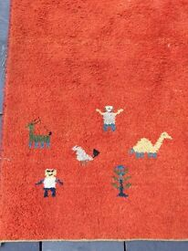 Large rug with inca design