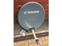 European satellite dish with the receiver