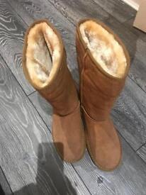 Uggs mid calf tan size 8 ladies brand new