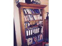 Antique Pine office book shelf