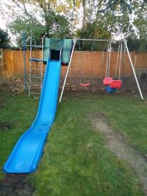 TP Toys Double Giant Swing Frame including slide & accessories - Perfect for Christmas