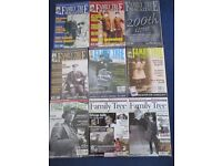 9 FAMILY TREE-HISTORY/GENEALOGY MAGAZINES 2002-2006- GOOD USED-COLLECT ONLY BENFLEET