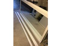 3x white mirror sliding wardrobe doors