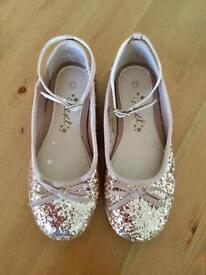 Girls Glitter party shoes (13)