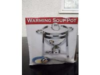 A Pair of Free-standing Heated Covered Serving Dishes / Soup Pots - Ideal for Buffets and Parties