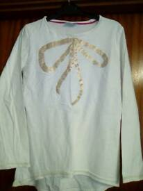 Girls long sleeve tops age 10-11