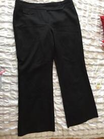 Black dress trousers