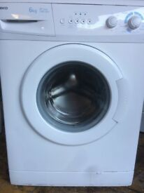 A+ class beko 6kg washing machine 1200 spin fast wash in good condition