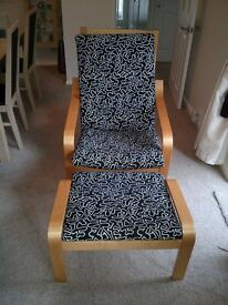 Armchair with footstool - Ikea POANG