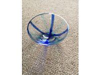 Decorative LSA glass dish