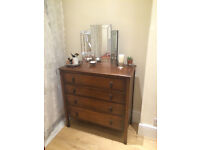 Beautiful Art Deco Chest of Drawers Dresser Vintage Antique