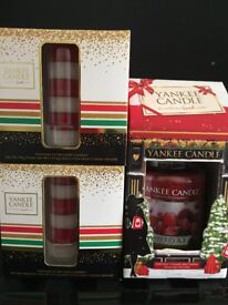 Yankee candle Christmas gift sets x 3