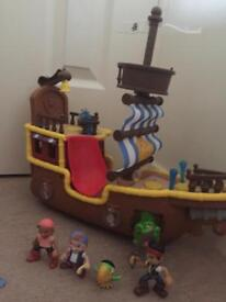 Jake and Neverland Pirates Adventure Toy bundle