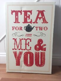 'Tea for Two' Canvas from Next