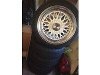 Alloy wheels LENSO BSX, 17X7.5, ET35, 4X100, WHITE/POLISHED