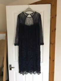 Beautiful navy delicate lace cocktail dress.