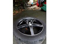 "Dezent 17"" alloy wheels 5x110, black and polished,"