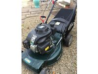 Petrol lawn mower. Only a few months old