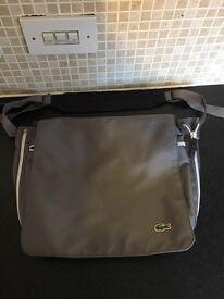 REDUCED Genuine grey Lacoste baby change bag/school bag ladies bag