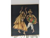 Canvas print pair of Indian dancers