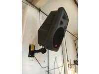 JBL Eon Power 15 PA speakers x 4 with2 wall mounts. Were used in studio for live performance