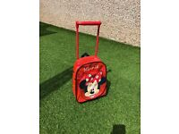 Small Minnie Mouse wheeled travel case