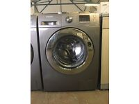 8KG SAMSUNG ECO BUBBLE WASHING MACHINE ,CHROME DESIGN,BIG LED DISPLAY, 4 MONTHS WARRANTY