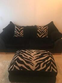 NOW SOLD!!! DFS 3+2 seater sofas + footstoll